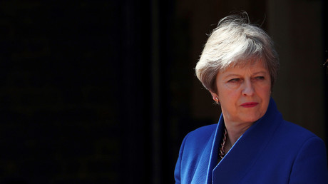 Le Premier ministre du Royaume-Uni Theresa May, en avril 2018
