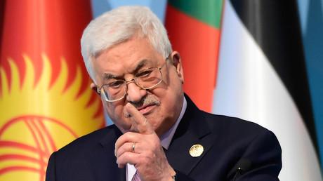 Mahmoud Abbas lors d'une conférence de presse en 2017