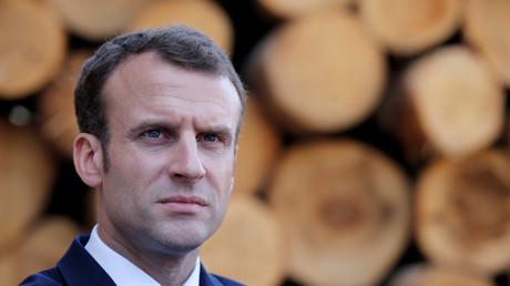 Emmanuel Macron à Saulxures-sur-Moselotte, avril 2018, illustration
