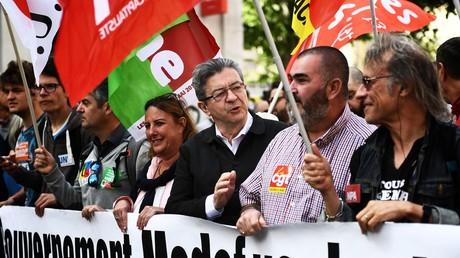 Jean-Luc Mélenchon lors de la manifestation du 1er mai 2018