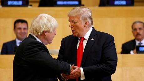 Boris Johnson et Donald Trump au siège des Nations Unies en septembre 2017 (illustration)