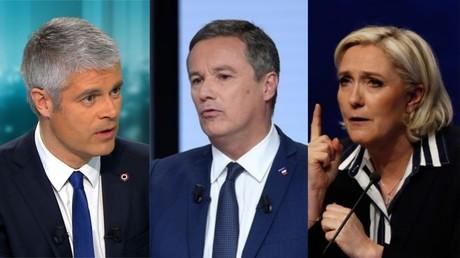 Laurent Wauquiez, Nicolas Dupont-Aignan, Marine Le Pen