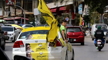 Des militants du Hezbollah dans la ville de Nabatieh dans le sud du Liban, le 6 mai
