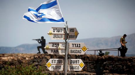 Soldats israéliens sur le mont Bental, dans le Golan occupé