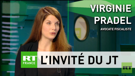 L'avocate fiscaliste Virginie Pradel sur le plateau de RT France, le 10 mai