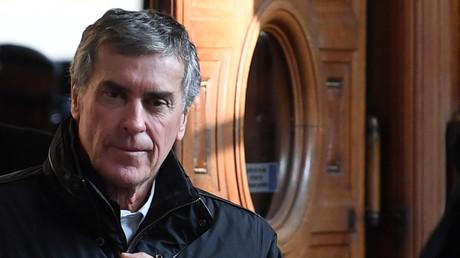Photo d'illustration : Jérôme Cahuzac à la sortie du tribunal, le 21 février 2018