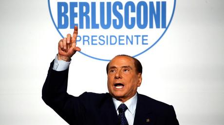 Silvio Berlusconi lors d'un meeting à Rome, en mars 2018