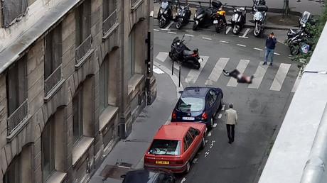 L'auteur de l'attentat du 12 mai 2018 à Paris, au sol