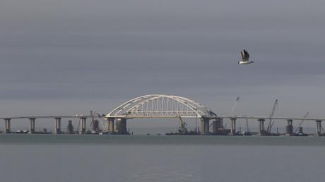 Image d'illustration du pont de Crimée, prise le 14 avril 2018