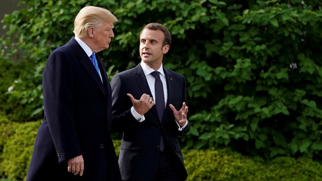 Donald Trump et Emmanuel Macron, le 28 avril 2018, photo ©Joshua Roberts/Reuters