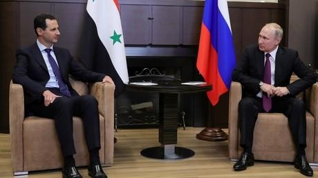 Bachar el-Assad et Vladimir Poutine le 17 mai à Sotchi, en Russie