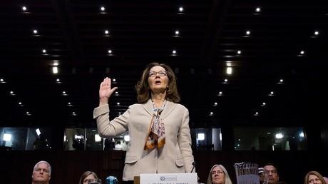 Gina Haspel lors de son audition par la commission sénatoriale du Renseignement à Wahsington, le 9 mai