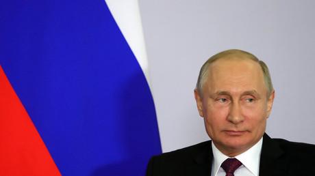Le président russe Vladimir Poutine le 4 mai 2018 à Sotchi.