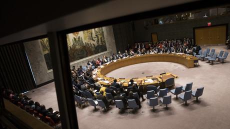 Le conseil de sécurité de l'ONU, rassemblé le 17 mai 2018