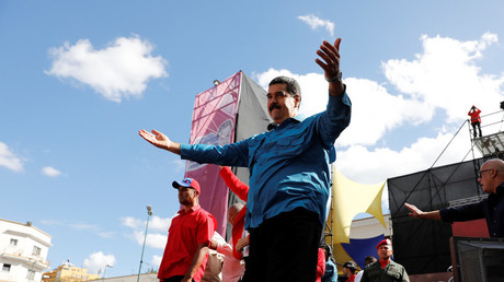 Image d'illustration : Nicolas Maduro lors d'un rassemblement à Caracas, le 23 janvier