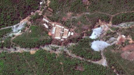 Le site nucléaire de Punggye-ri, photographié le 23 mai