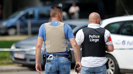 Des officiers de police sur le lieu de la fusillade à Liège en Belgique le 29 mai 2018. (image d'illustration)
