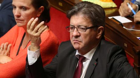 Jean-Luc Mélenchon  à l'Assemblée nationale en septembre 2017.