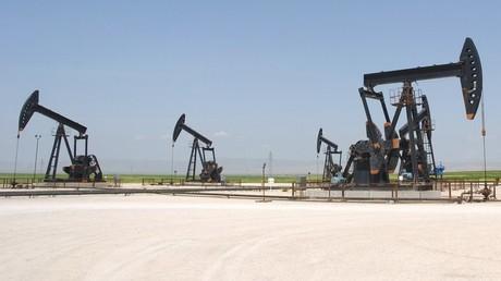 Site d'extraction pétrolière d'Al-Jbessa en Syrie (illustration)