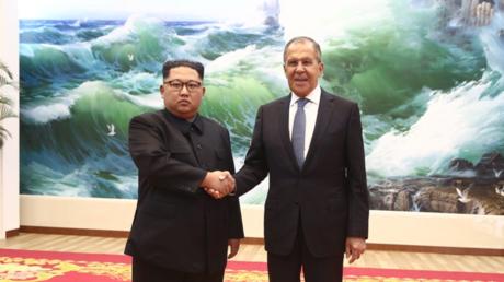 Sergueï Lavrov et Kim Jong-un à Pyongyang