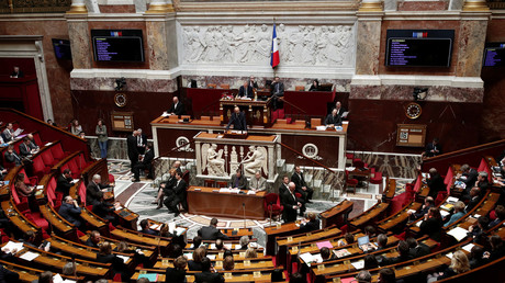 Dans l'hémicycle de l'Assemblée nationale, le 16 avril 2018. (image d'illustration)