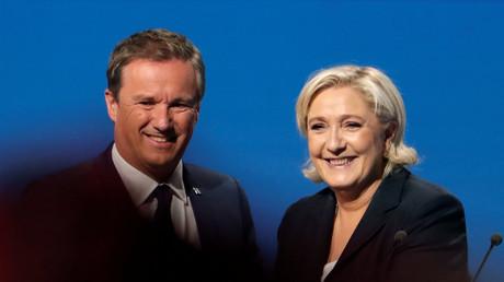 Marine Le Pen et Nicolas Dupont-Aignan ralliés durant la campagne présidentielle de 2017.
