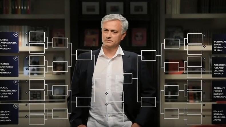 Coupe du Monde 2018 : ne manquez pas les pronostics de José Mourinho le 6 juin sur RT France