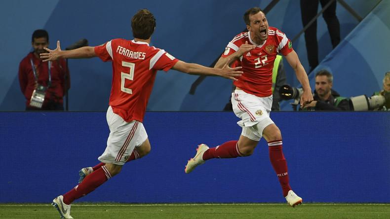 La Russie s'impose 3-1 face à l'Egypte et fait un grand pas vers les huitièmes de finale