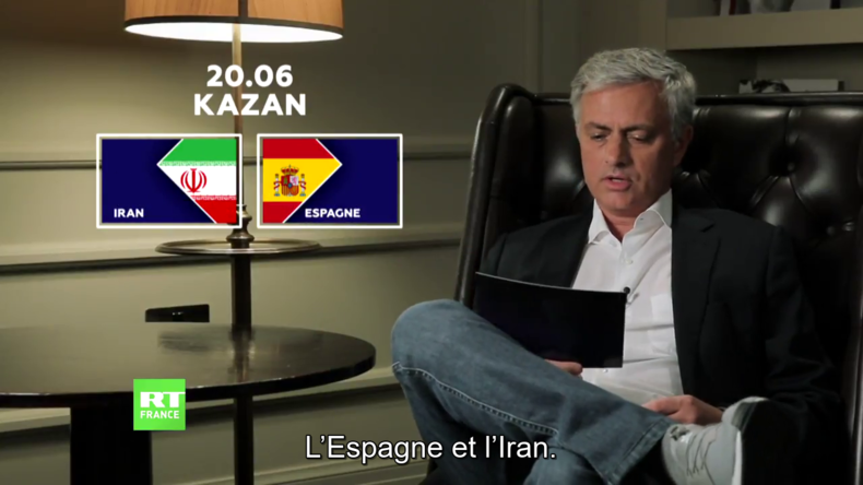 Découvrez le pronostic de José Mourinho pour le match Iran-Espagne (VIDEO)