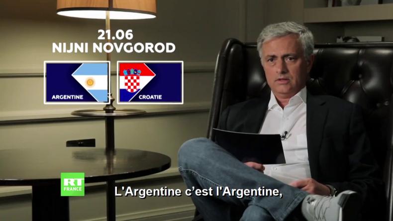 Découvrez les prévisions de José Mourinho pour le match Argentine-Croatie (VIDEO)
