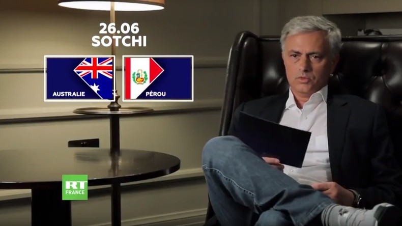 Découvrez les prévisions de José Mourinho pour le match Australie-Pérou (VIDEO)