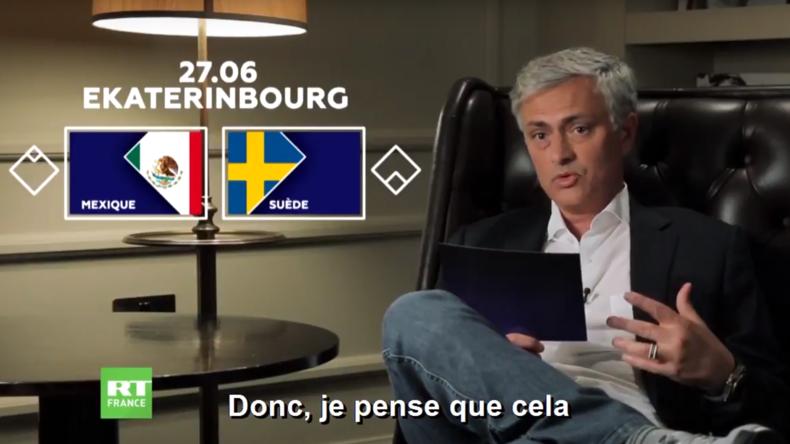 Découvrez les prévisions de José Mourinho pour le match Mexique-Suède (VIDEO)