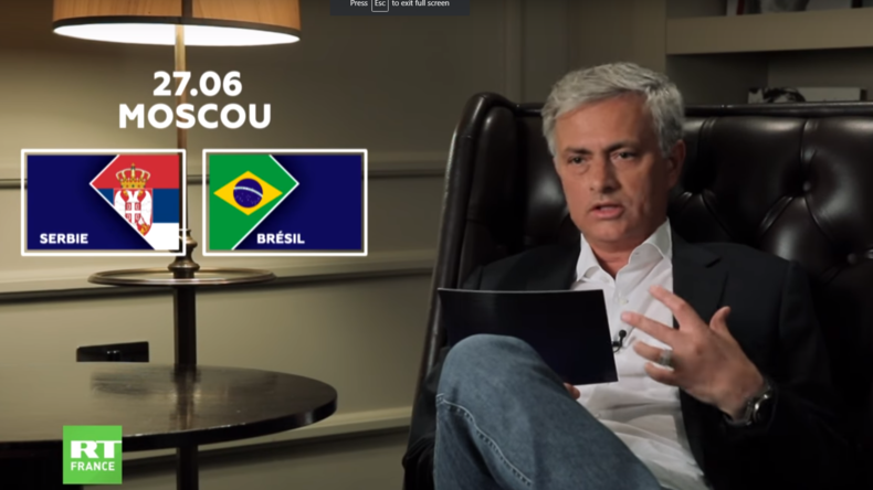 Découvrez les prévisions de José Mourinho pour le match Serbie-Brésil (VIDEO)