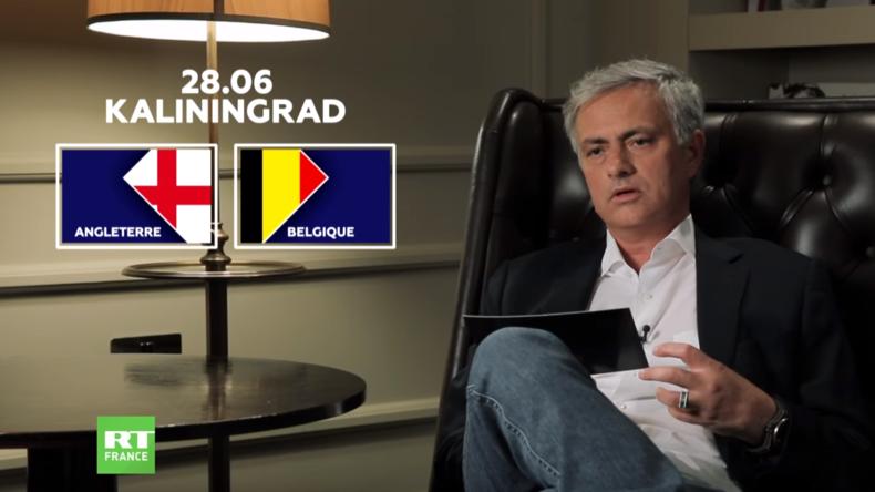 Découvrez les prévisions de José Mourinho pour le match Angleterre-Belgique (VIDEO)