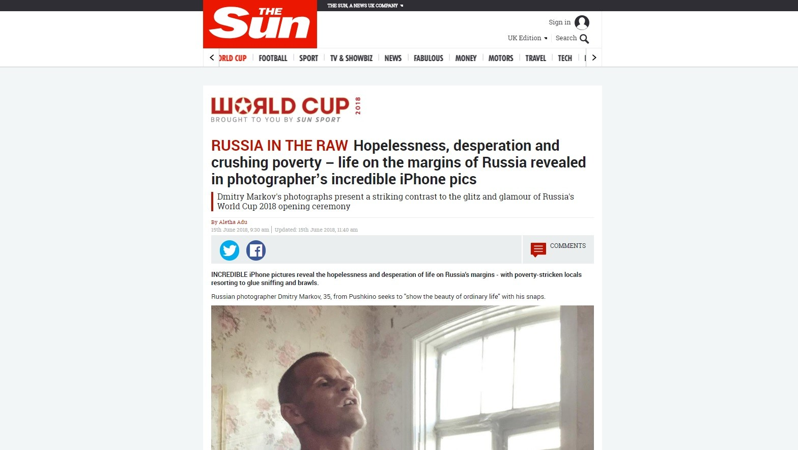 «La Russie à l'état brut» : un photographe raconte comment The Sun a utilisé ses images malgré lui