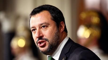 Matteo Slavini, leader du parti anti-immigration Lega et désormais vice-Premier ministre en charge de l'Intérieur, ci-dessus le 21 mai 2018 (illustration)