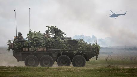 Des troupes de l'OTAN s'entraînent dans le cadre des exercices militaires de l'opération «Coup de sabre» à Orzysz, en Pologne, le 16 juin 2017 (Illustration)