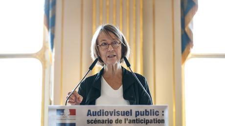 La ministre de la Culture Françoise Nyssen le 4 juin 2018 dans son ministère à Paris.