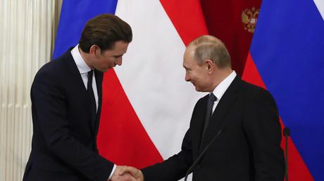 Rencontre entre Sebastian Kurz et Vladimir Poutine le 28 février à Moscou.
