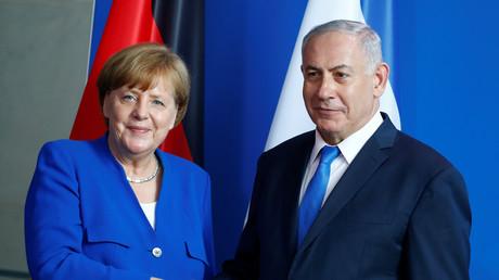 Angela Merkel et Benjamin Netanyahou lors de leur conférence conjointe à Berlin le 4 juin.