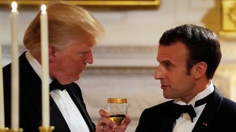 Donald Trump et Emmanuel Macron, le 24 avril à la Maison Blanche, illustration