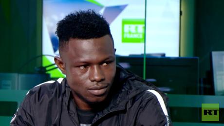 Mamoudou Gassama, invité de RT France le 5 juin 2018.