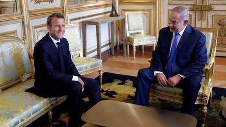 Benjamin Netanyahou et Emmanuel Macron à Paris le 5 juin