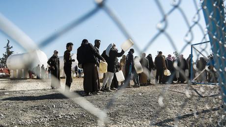 Camp de réfugiés d'Al Hol au Nord-Est de la Syrie où vivent quelques femmes de djihadistes d'origine étrangère et leurs enfants, en janvier 2017.