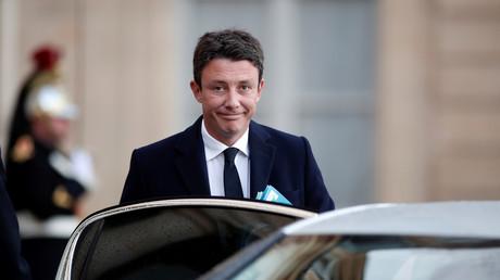 Benjamin Griveaux au sortir de l'Elysée, janvier 2018