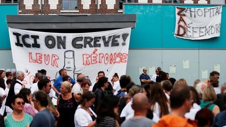 Grève au Centre hospitalier du Rouvray, le 29 mai.
