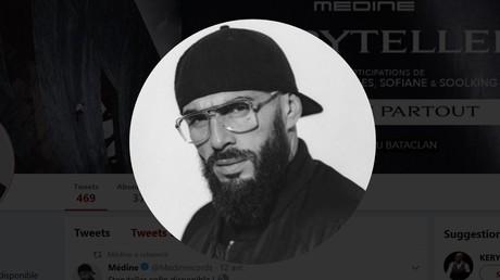 Capture d'écran du compte Twitter officiel de Médine