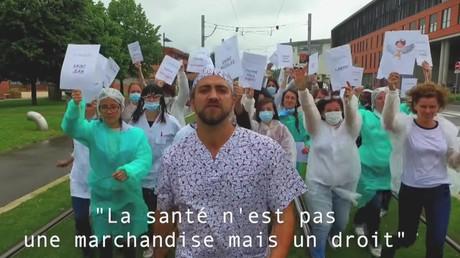 Capture d'écran du clip «Les soignant.e.s toulousain.e.s reprennent Orelsan pour lancer la mobilisation générale de la santé»