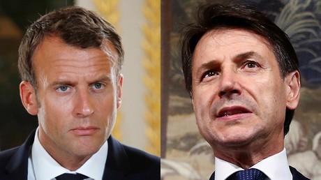 Le président français Emmanuel Macron et le chef du gouvernement italien Giuseppe Conte (montage)