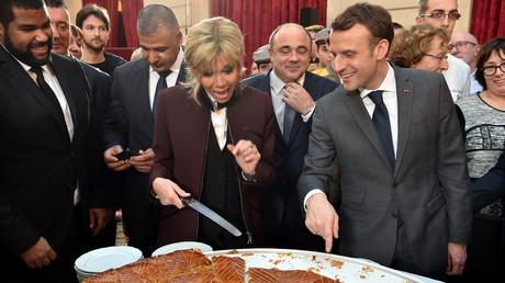 Brigitte et Emmanuel Macron à l'Elysée lors de l'épiphanie, le 12 janvier, illustration